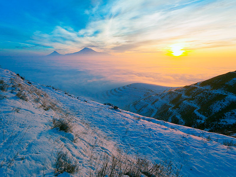 Skitour Winter in Armenia