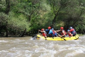 Hiking und Rafting
