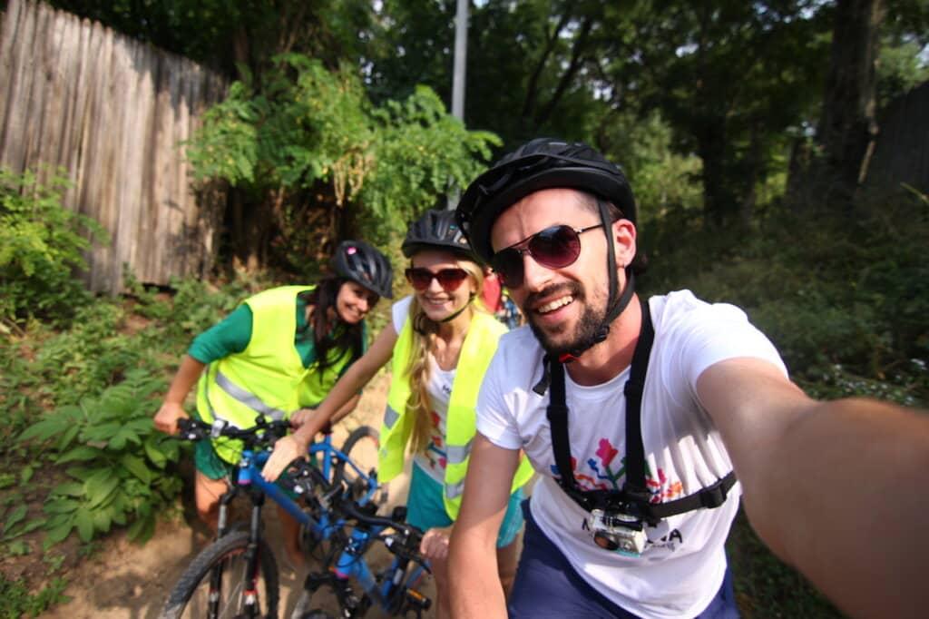 Spaß während der Radtour